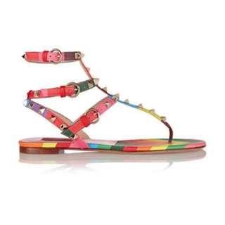 Valentino Garavani Rockstud Rainbow Flats