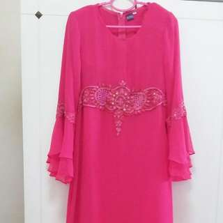 Modern Kurung with embroidery