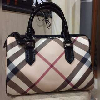 Burberry Nova Small Bowling Bag AUTHENTIC