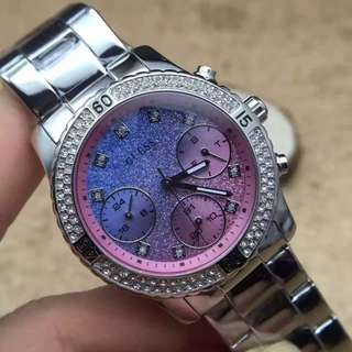 GUESS watch for women da uhr stahl wristwatch for her as a gift w0774l1 Gradient color with gift box
