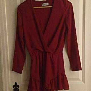 Red Playsuit Boho, Going Out
