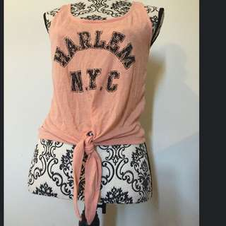 Harlem Nyc Tie Crop Top Size 8