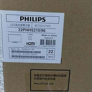 保留中 Philips  型號32PHH5210 電視 附視訊盒