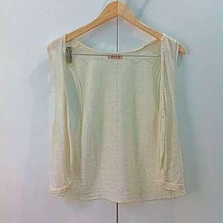 Elle Knit Outer Broken White Putih Gading All Size