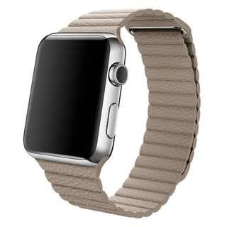 Apple watch 荔枝紋 磁吸錶帶5色各1