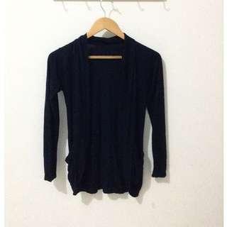 Black Cardigan / Simple Cardigan / Outer
