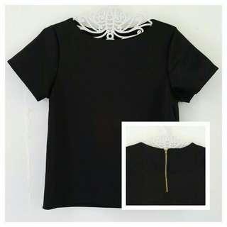 Black Zip-back Top