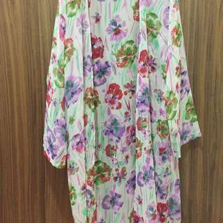 Floral Printed Long Outerwear (REDUCED PRICE)