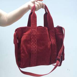 Red Mossimo Dutti Bag AUNTHENTHIC