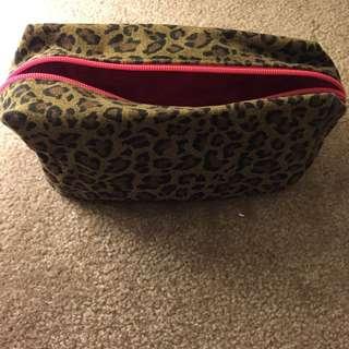 Leopard Print Makeup Bag/pencil case