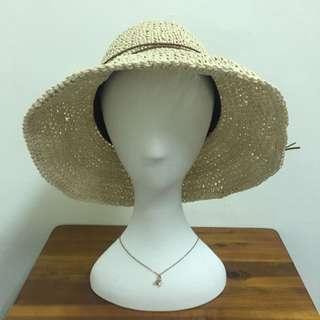 鐵絲寬緣荷葉帽子 遮陽可折 細繩綁帶 海邊度假 正韓 韓國空運
