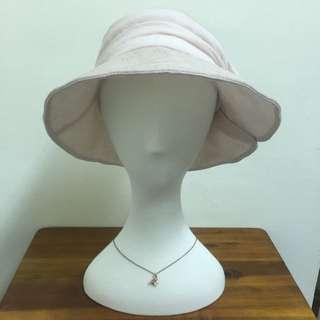 韓國空運 淑女側邊蝴蝶結帽子