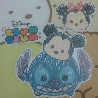 Tsum Tsum Disney 迪士尼 米奇 米妮 史迪奇 醜丫頭 跳跳虎 屹耳 奇奇蒂蒂 奇奇 蒂蒂 胡迪 熊抱哥 高飛 布魯托 火腿 毛怪 大眼怪 大眼仔 貼紙