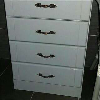 Side Table With 4 Drawers