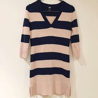 H&M Striped Knit Tunic