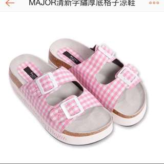 Major Made 格子涼鞋 500含郵