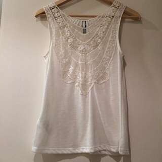 H&M Crochet Back Top