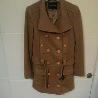 🚚 冬季款    H2O馱色硬挺羊毛100%雙排扣大衣含運