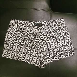 Cotton On Tribal Black And White Shorts