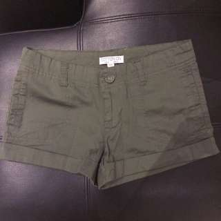 Cotton On Green Army Shorts