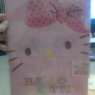 Hello Kitty HK 凱蒂貓 無嘴貓 資料夾 L夾 文件夾 文具 2枚 粉色 粉紅色