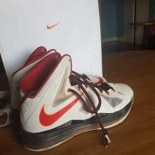 "Original Nike Lebron X ""Home"" Size 10.5"