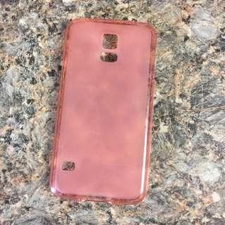 Samsung S5 Pink Rubber Case