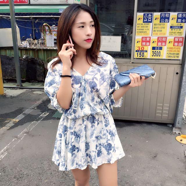 藍色玫瑰性感連身裙
