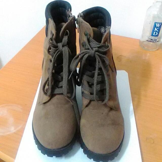 高跟 馬丁 軍靴 個性 中性 短靴