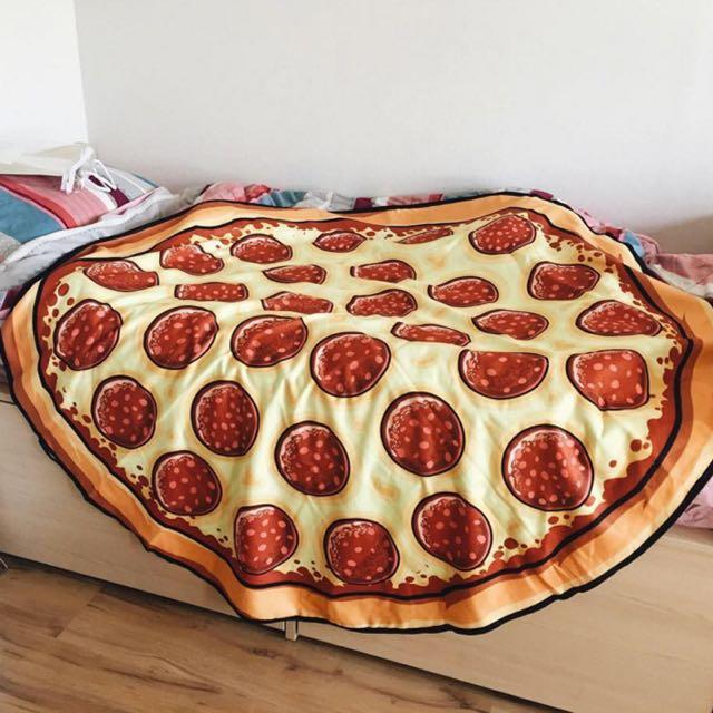 沙灘巾 披薩 Pizza 遮陽 野餐