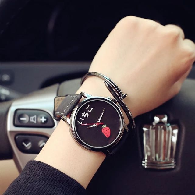 現貨 韓國原宿zipper簡約風手錶 可愛 潮流 學生錶 韓國錶 水果錶 造型錶 卡通錶 香蕉 西瓜 草莓 仕女錶 大學生 韓國 三眼錶 藍光錶