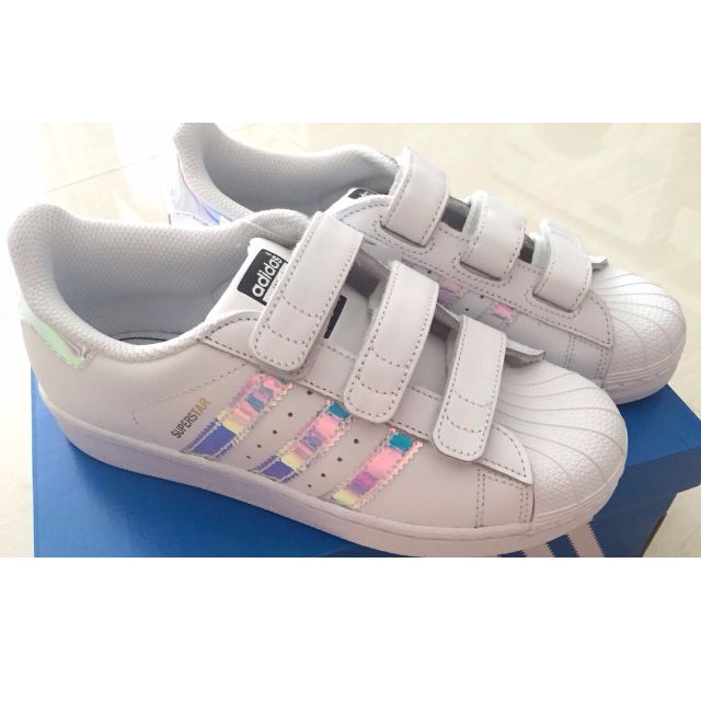 competitive price 118bb 109d0 Adidas Superstar Holo Iridescent Junior/Womens Sneakers ...