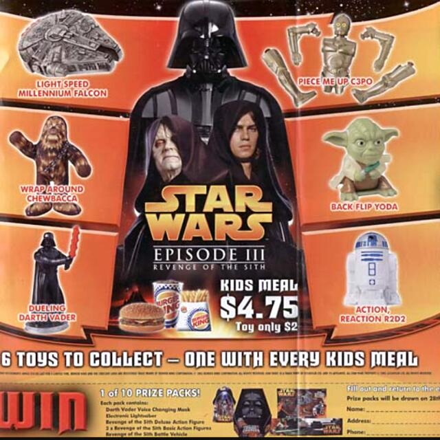 Fast Food Burger King Starwars Vintage Collectibles On Carousell