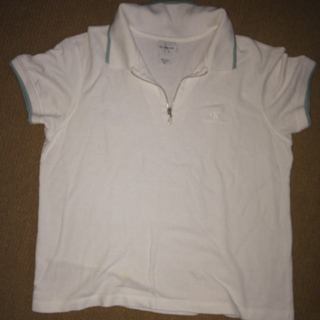 Calvin Klein White Shirt Tshirt Top
