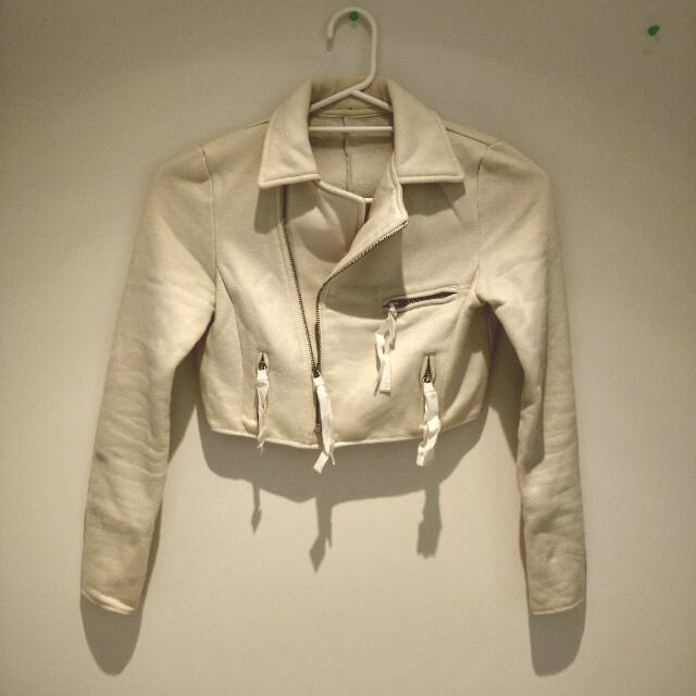 Cream Colour Crop Jacket