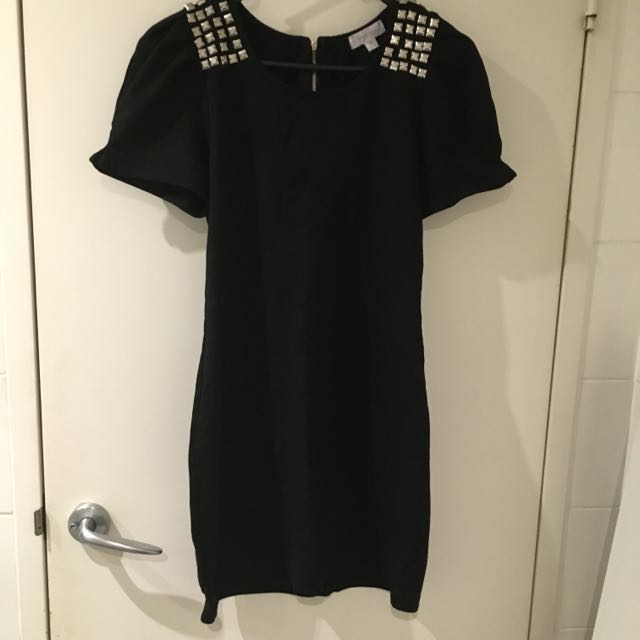Embellished Black Dress LBD For Work Or Play (Med AU10)