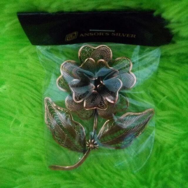 Flower - Silver Brooch