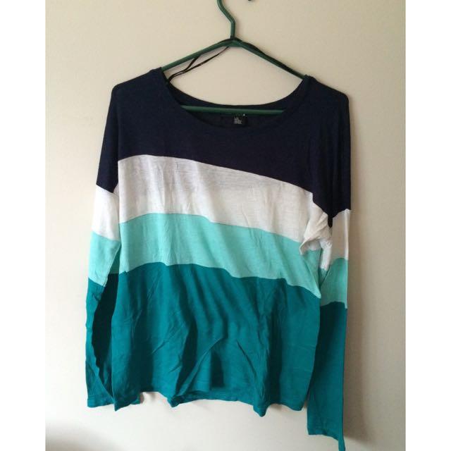 Forever 21 Stripe Long sleeve Shirt