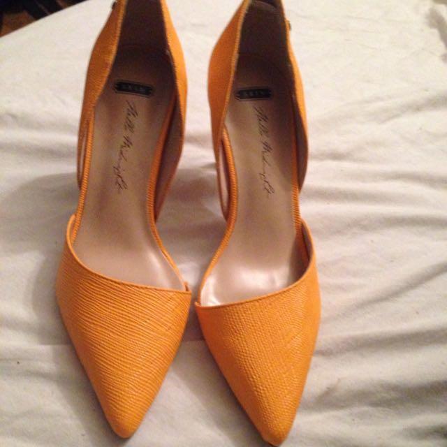 Genuine Leather Orange Skin Shoes