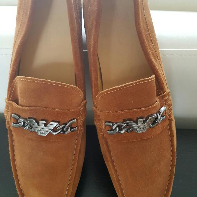 GIORGIO ARMANI Genuine Leather Suede MOCCADIN Shoes A++++ COPY