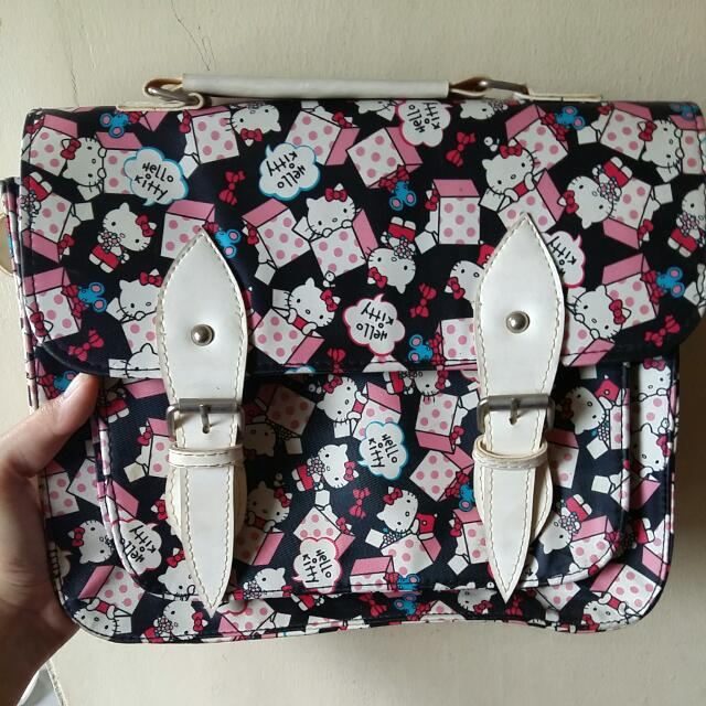 Hello Kitty Print Satchel Bag used only once, Waterproof