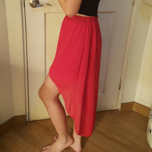 High Low Middi Skirt