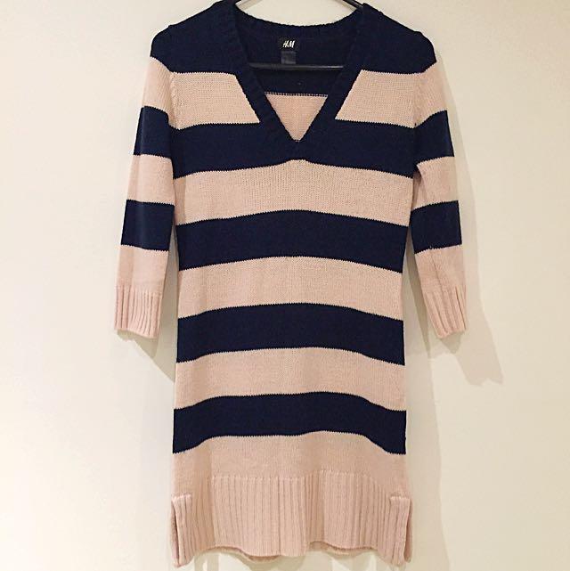 H&M Striped Knit Tunic