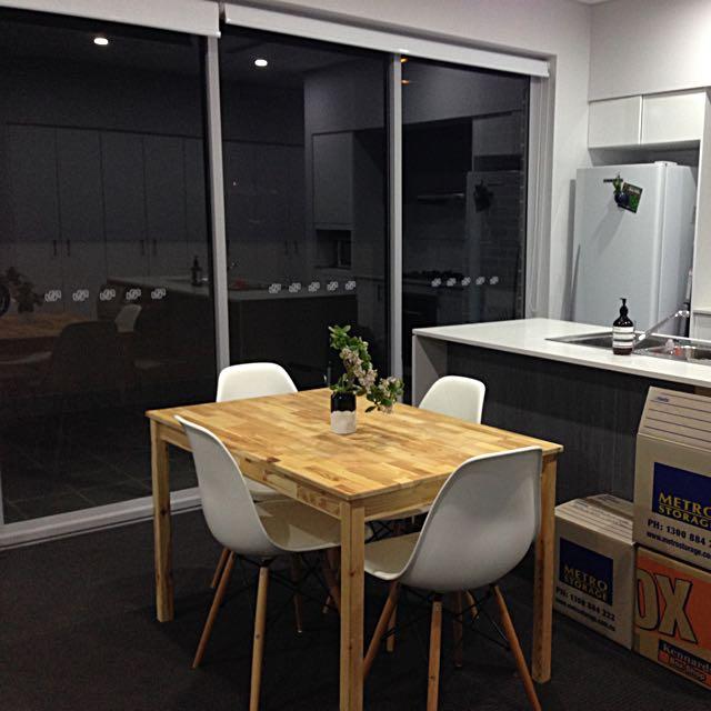 IKEA Table & Replica Eames Chairs