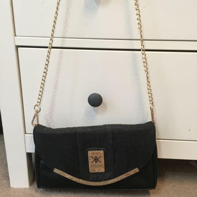 Kardashian Kollection Black And Gold Side Bag