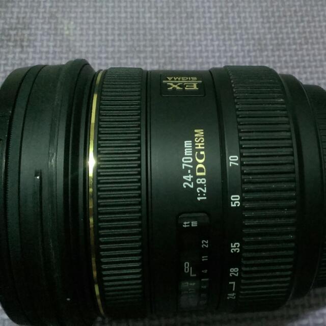 Lens Sigma 24-70 f 2.8 EX DG HSM for Canon