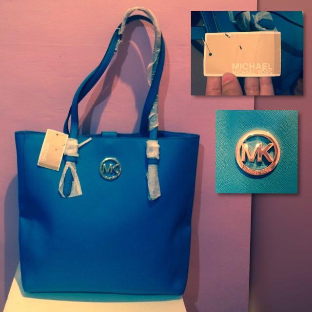 Michael Cors Blue Tote Bag