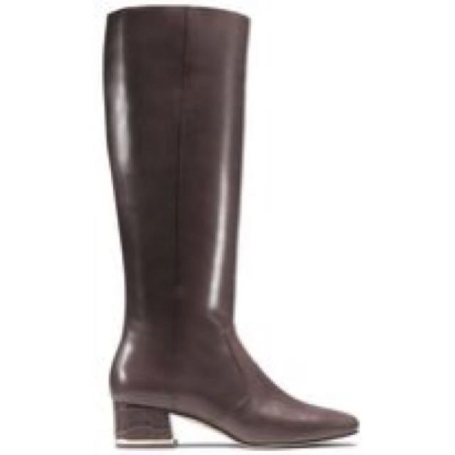 Michael KORS Sedgwick Embossed Leather Boots