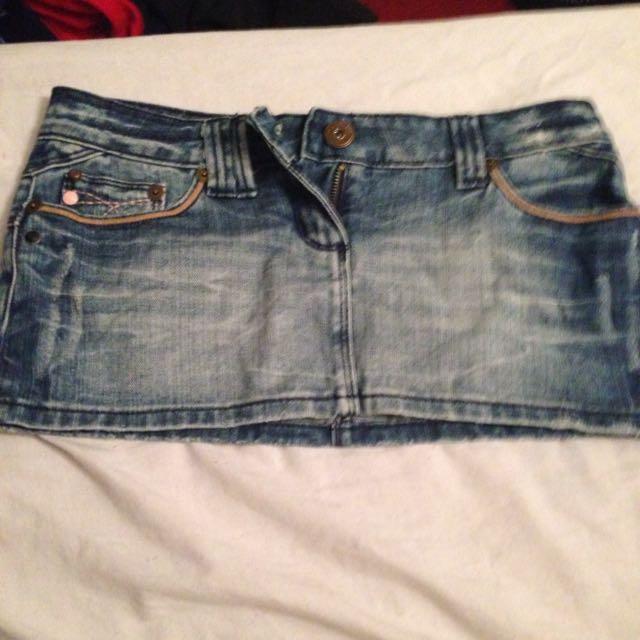 Mini Jean Skirt