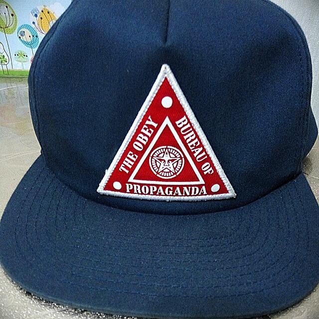 放Obey Blue Cap